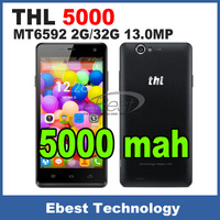 Original ThL 5000 Smartphone MTK6592 Octa Core 5.0 Inch 1080P IPS Coning Gorilla Glass Screen 2G/16G 5000mAh 13.0MP 4400 NFC