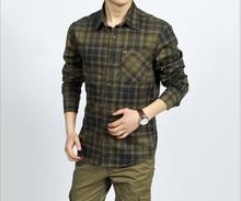 High Quality 100 Cotton Brand Long Sleeve Shirt Men Fashion Classic Casual Plaid Shirt Men Camisa
