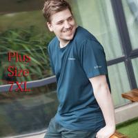 Free shipping 2014 New summer male Big plus size men's clothing T-shirt extra large t shirt size 4XL,5XL,6XL,7XL,XXXXL,XXXXXXXL