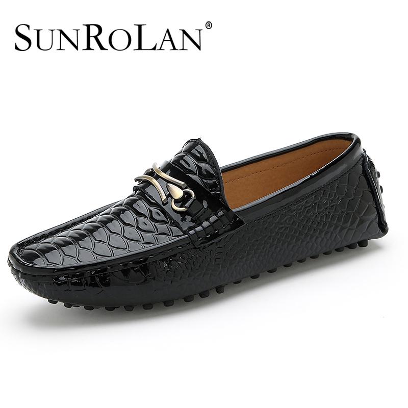 Nouveau 2014 hommes chaussures en cuir véritable de mode printemps conduire, appartements chaussures hommes fainéants taille plus confortables occasionnels espadrilles 2019