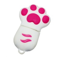 Enfain  Cute Animal Paw keychain 8GB 16GB USB Flash Drive Cartoon USB 2.0 Memory Stick U Disk