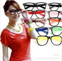 Promotion Fashion Rivet Without Lenses Glasses Frame 8 Candy Colors Choics