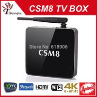 2014 NEW CSM8 TV BOX 2G/16G Amlogic s802 Quad Core 2.0Ghz Android 4.4 Smart TV 5GHz WiFi XBMC Media Player IPTV Smart TV Mini PC