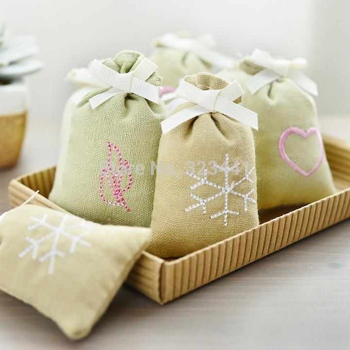 Home fabric embroidery fresh small sachet wardrobe sachet flavor wet(China (Mainland))