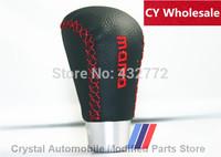 Real Leather MOMO gear shift knob/ black universal manual gear head modified shift knob