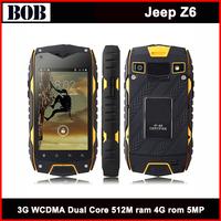 "Jeep Z6 mobile IP68 Waterproof Smart Phone 4.0"" IPS Screen MTK6572 Dual Core 4GB ROM 3G Dustproof Shockproof Jeep Z6"