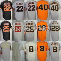 8 Hunter Pence 22 Will Clark 25 Barry Bonds 28 Buster Posey 40 Bumgarner baseball jersey,custom jerseys Cheap baseball jersey