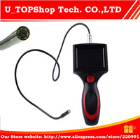 """Free Shipping 8.0mm Borescope Endoscope camera 3.5"""" LCD Inspection Camera 1M Cable Flexible"""