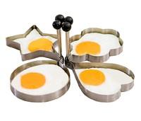 Stainless steel omelette device omelettes mould egg ring egg model set heart egg mold egg shaper