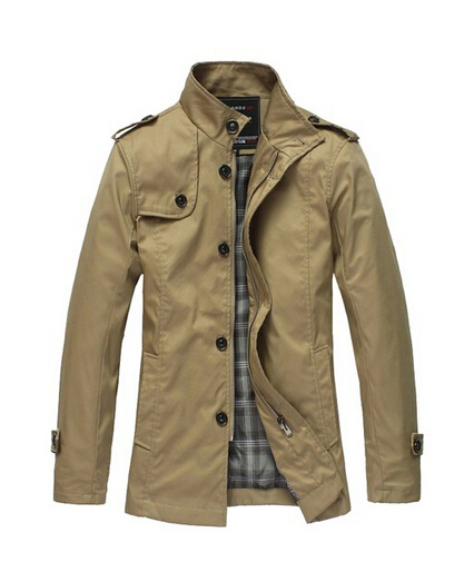 Men Fashion Jacket Lightweight Men s Trench Fashion Casual
