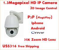 PTZ Dome Digital Camera,Jetvision Brand,Manufacturer Offer OEM,Support onvif,resolution 1280*960,Support Good Day & Night