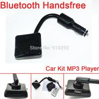 Wholsale New Arrival Multipoint Speakerphone Bluetooth v3.0 Hands Free Car Kit A2DP car handsfree aux bluetooth car kit