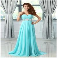 Free Shipping 2014 New Hot Chiffon Sweetheart Sleeveless A-Line evening Dress Bridal dress party dress dress