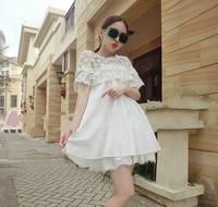 Hot sale 2014 new arrival women maternity dresses summer lace chiffon patchwork gown dress fashion pregnancy dress ems