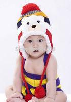 2014 Winter Lovely Cute Bear Baby Beanie Caps Ear Protector Warm Boy Girls Hats Children Accessories