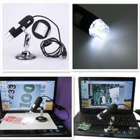 Portable New Arrival 2MP 8 LED USB Digital Microscope Endoscope 2.0 Mega Pixels Magnifier 40X~800X