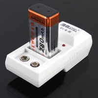 Intelligent Smart Power 2-Bay Ni-MH Ni-Cd Rechargeable Battery 9V Charger 220V Rechargeable US Plug