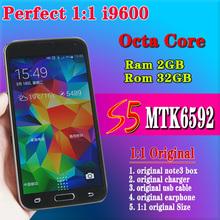 "16MP S5 Phone i9600 phone MTK6592 Octa Core Ram 2GB Rom 32GB 1.7GHz Android 4.4.2 OS   5.1""1920*1080 IPS Fingeprint Waterproof(China (Mainland))"