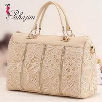 New 2014 spring female bags women messenger bag fashion vintage lace bag shoulder bag handbag  free shipping
