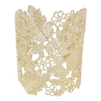 BELLA 18k Золото GP Flower Кружево bracelets For Party Розовый Золотоen plated cuff ...