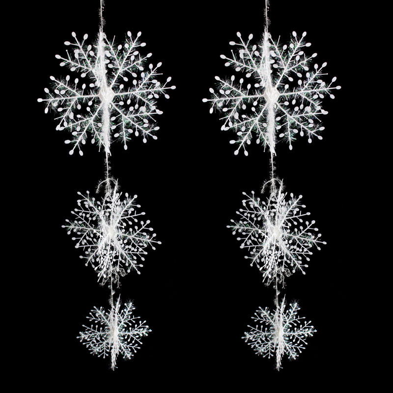 30 Pcs/Lot Christmas decorations, Snowflake Christmas Hanging Decoration,snowflake decoration,felt snowflake(China (Mainland))