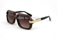 Full Snakeskin Vintage Sunglasses 607 Germany Top Brand Gradient lens Leather snakeskin frame Men Sunglasses 607