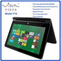 Wholesale - 10 inch Dual Core Mini Laptop Win 8 Intel N2806 HDMI WIFI 2GB/320GB Mini Netbook Free shipping
