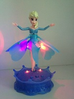 Frozen flying elsa with light and music operated flying toy
