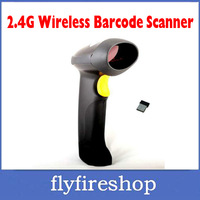 Free Shipping CT007 laser barcode scanner 2.4G Wireless Bar Code Barcode Scanner reader Auto Induction&Storage For Windows