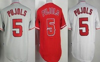 Free shipping wholesale #5 Albert Pujols Jerseys  cheap baseball men jerseys on sale