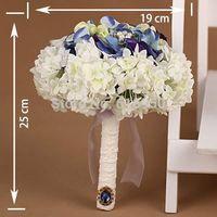 Free shipping lucky bridesmaid flower wedding  bouquet  bride hand satin flower black diamond romantic take photo props