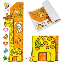 New 2014 Fashion Wall Stickers Giraffe Kids Growth Chart Height Measure For Home/Kids Rooms DIY Decoration Hot