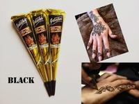 Free shipping 3 pieces India Golecha henna paste black henna temporary tattoo cream body art paint cream 20g
