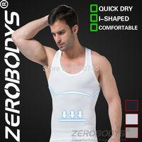 Fast Shipping ZEROBODYS Comfortable Mens Body Shaper Quick Dry I-Shaped Vest 369 WH Men Slim Vest Compression Gear Base Body Man