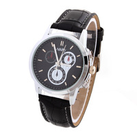 New Fashion Luxury Brand Men's Causal Quartz Watches PU Strap Analog Wristwatches Unisex Promotion