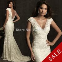 SUSAN BRIDAL Sexy Mermaid V-neckline Stunning lace Zipper closure Wedding Gown Wedding Dresses