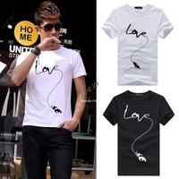 High Quality New 2014 Men's Brand Short Sleeve O-neck Cotton T-shirts Men Fashion T Shirt Shirts Larger Size XXL #3 SV006248