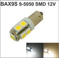 DC 12V BAX9S 9-SMD 5050 LED Light Sourcing Side Turn Signals Lamps led lamp 12v Free Shipping