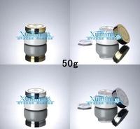 EM2 Capacity 50G white glass cream jar,cosmetic container,Cosmetic Jar,Cosmetic Packaging,glass bottle