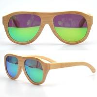 Natural wood sunglasses men and women polarized retro bamboo sunglasses vintage eyewear in stock (ZA47)