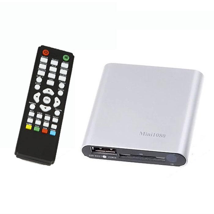 Gofuly 1080P Mini HDD Media Player MKV/H.264/RMVB HD with HOST USB/SD Card Reader Wholesale Free shipping(China (Mainland))