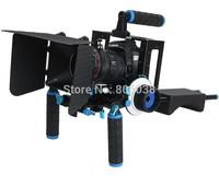 4 In 1 DSLR Rig Kit Shoulder Mount Rig + Matte Box +Follow Focus+Dslr Cage for DSLR Cameras and Video Camcorders