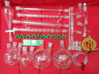 Laboratory glassware kit ,With Joints 24/40,JSN0054,Borosilicate Glass,New advanced chemistry,Free Shipping