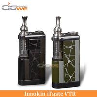 Free shipping mechanical Innokin itaste VTR Rechargeable 3.0ml iClear 30s itaste vtr vaporizer 2600mah Battery e cig itaste vtr