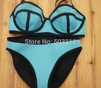 2014 secret brand triangl neoprene bikini biquini swimwear  maillot de bain saida de praia SEXY Push Up Swimsuit bathing suit