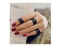 2014 new fashion Black matte opening ring three ring high quality  Mid Finger Knuckle Ring Set