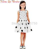 Hot sale 2014 new brand girls print dress, children's princess dresses,designer kids dobby dress, child babi clothing, 2-12Y