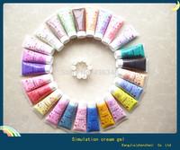 25pcs/50g Simulation Ice cream gel  mix color Cream Glue  phone case cake cream glue Nail Beauty Glue