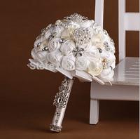 white rose crystal wedding bouquet bride bouquet bridal ball-flower accessories valentine's day