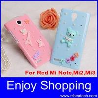 1 pcs drop ship free shipping handmade diamond cell phone protection case for xiaomi redmi 1s xiaomi hongmi 1s cover